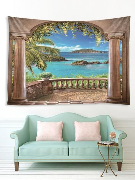 Seaside Porch Print Tapestry Wall Hanging Art Decoration