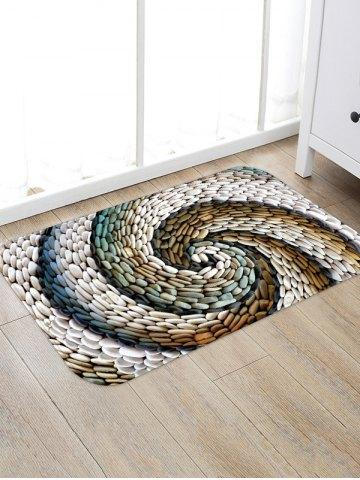 Stones Swirl Print Floor Decor Area Rug
