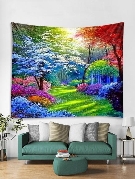 Colorful Forest Trail Print Tapestry Wall Hanging Art Decoration