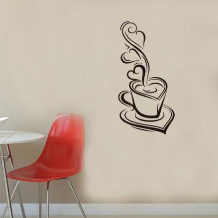 DX047 Coffee Cup Wall Sticker