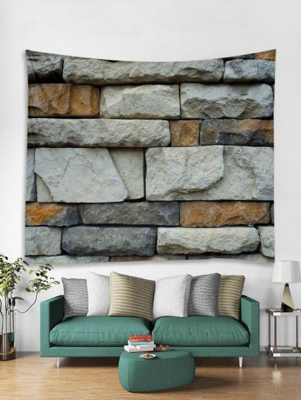 3D Brick Wall Tapestry Art Decoration