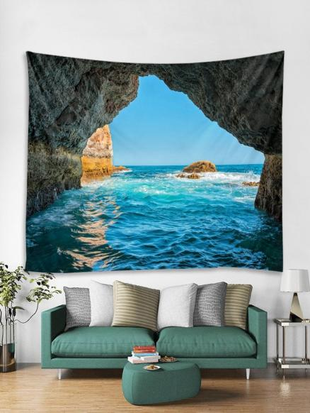 Ocean Stone Cave Print Tapestry Wall Hanging Art Decoration