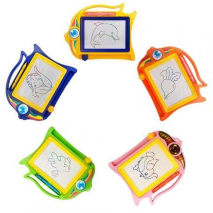 Color Magnetic Drawing Board Children Mini Painting Educational Puzzles Toy 1pc