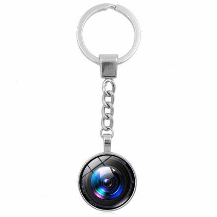 Camera Lens Style Key Chain Collection Gift Key Ring