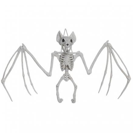 Trendy Halloween Skeleton Hanging Bat Bone Toy