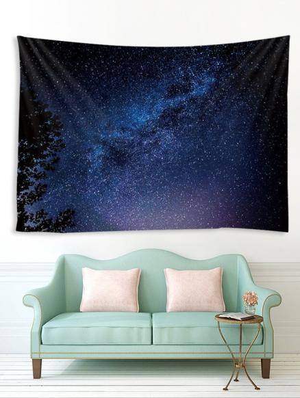 Treetop Galaxy Print Tapestry Wall Hanging Art Decoration
