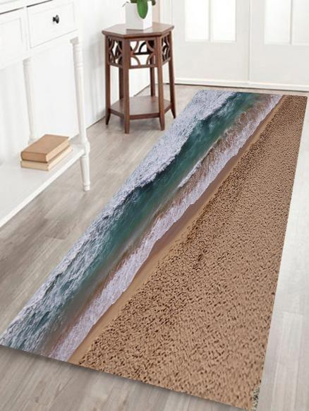 Seaside Scenery Print Anti-skid Water Absorption Area Rug
