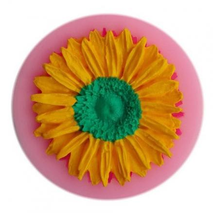 Facemile Sunflower Style Silicone Fondant Chocolate Molds for Cake Decoration