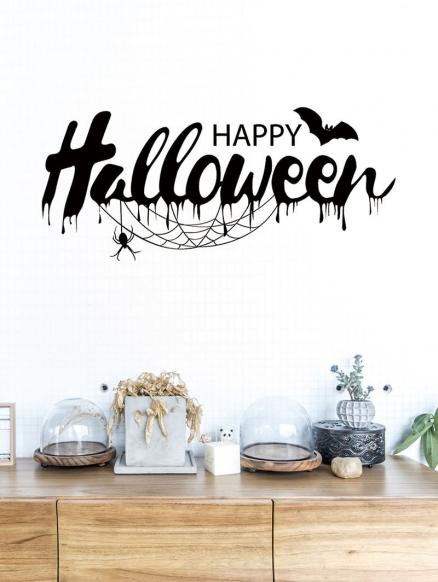 Halloween Bat Print Removable Wall Stickers