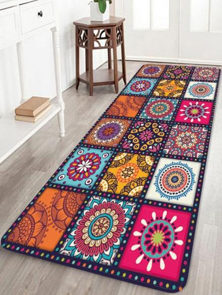 Bohemian Style Floral Pattern Rug