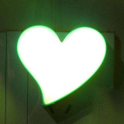 Socket Power Supply Heart Shape Table Bedside LED Night Light
