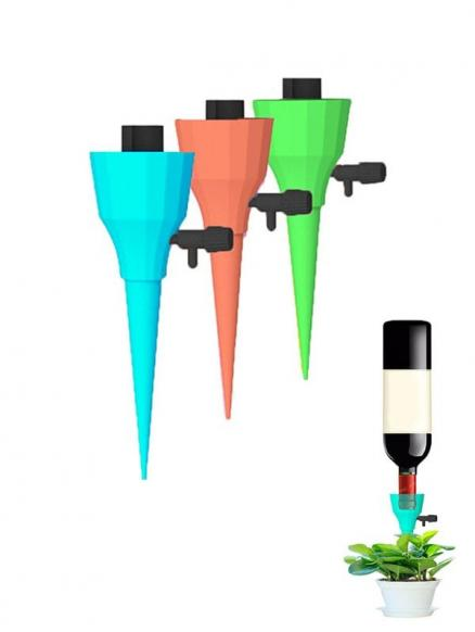 6 Pcs Adjustable Water Flow with Switch Control Automatic Constant Pressure Drip Watering Devices