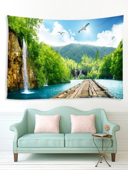 Landscape Waterfall Art Decoration Wall Tapestry