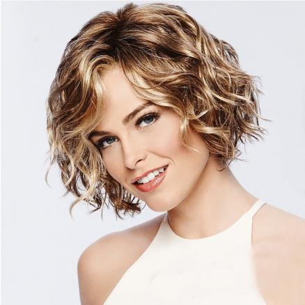 Stylish Vitality Lady Fluffy Short Curly Hair High Temperature Wig