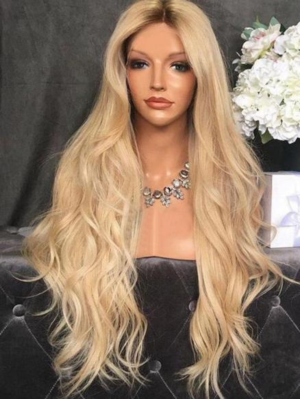 Center Part Body Wave Synthetic Long Wig