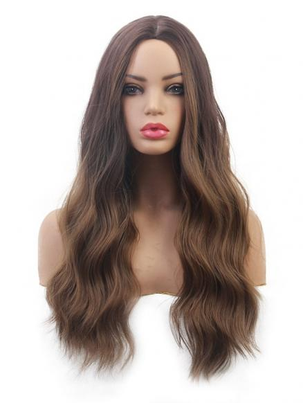 Body Wavy Long Center Part Synthetic Wig