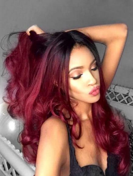 Center Part Long Body Wave Heat-Resistant Synthetic Wig