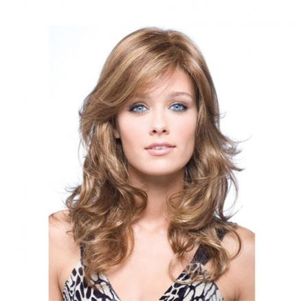 Long Curly Hair Ladies Picking and Dyeing Temperament Shaving Wig
