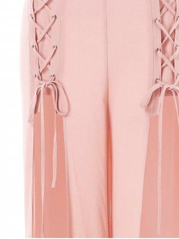 Criss Cross High Slit Pants