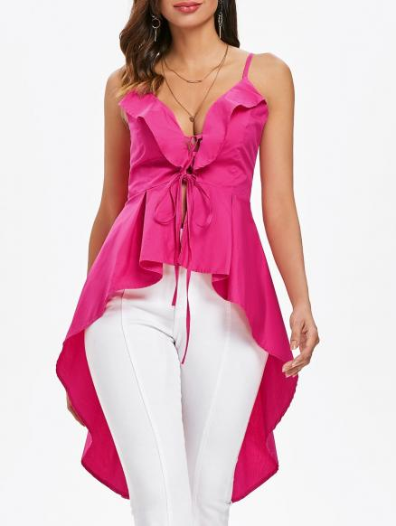 Criss Cross High Low Tank Top