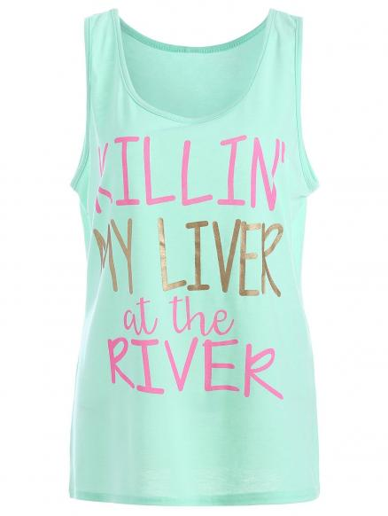 My Liver At The River Graphic Tank Top