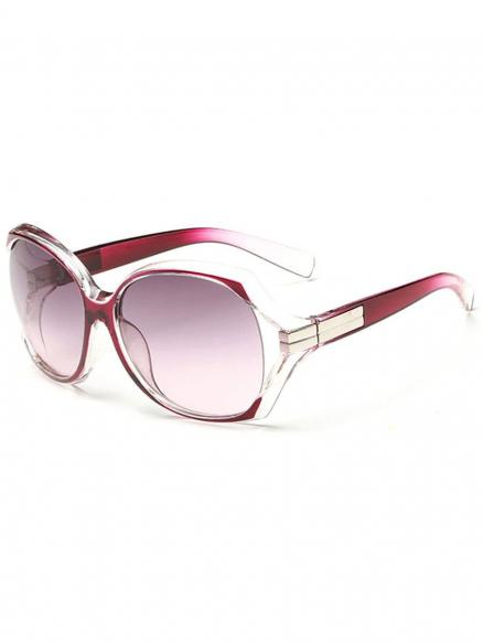 Stylish Hollow Out Frame Oversized Sunglasses