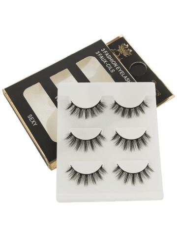 3 Pairs Natural Soft Long Extension Fake Eyelashes