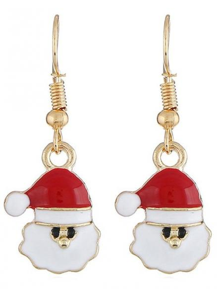 Alloy Christmas Santa Claus Earrings