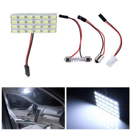 24SMD 5730 LED Panel Board 480LM Car Interior Dome Reading Lamp Light