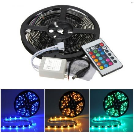 5M RGB 5050 SMD 150 Flexible LED Light Strips Waterproof + 24 Key Remote Control