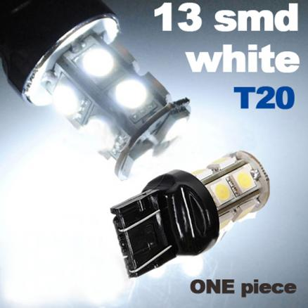 T20 7443 Car White 13 SMD LED Tail Brake Turn Side Light Lamp Bulb