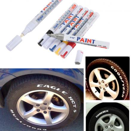 Universal Waterproof White Permanent Paint Car Tyre  Marker Pen
