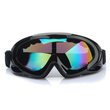 Anti-UV Anti-Fog Motorcycle ATV Goggles Black Frame