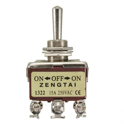 20A 125V On-Off-On Double Pole Toggle Switch Double Throw DPDT Heavy Duty