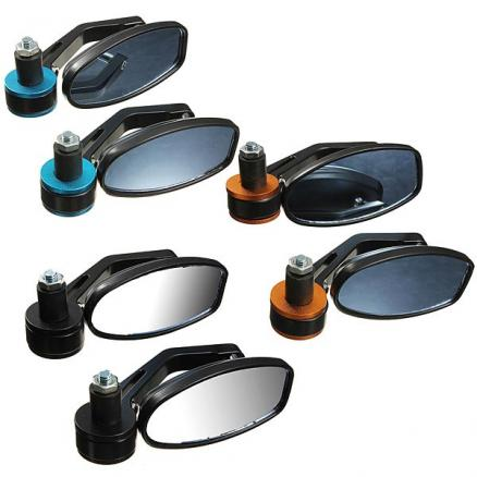 7/8 Motorcycle Bar End Rearview Mirror Aluminum Universal