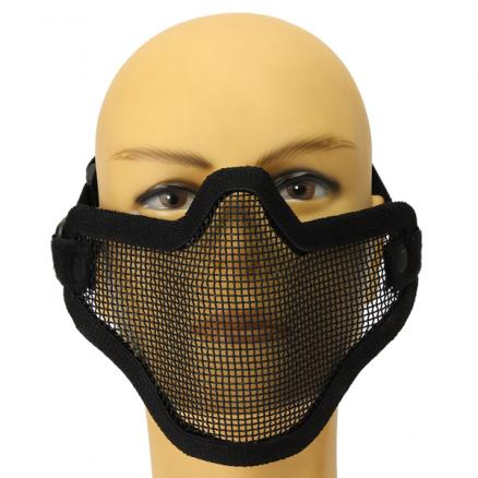 Steel Hunting Tactical Protective Airsoft Half Face Mesh Mask