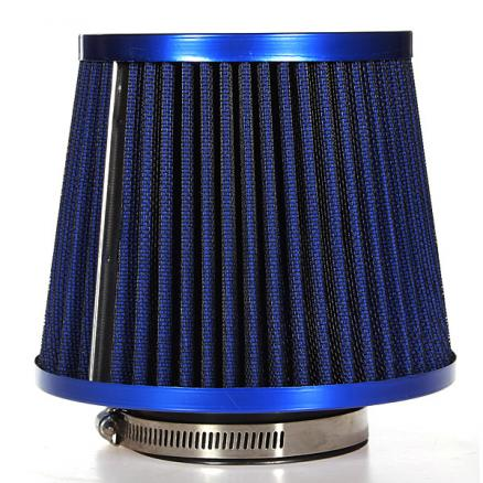 Universal Carbon Finish Car Air Filter Mesh Cone 76mm