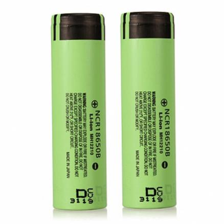 2pcs NCR18650B 3400mAH 3.7 V Unprotected Rechargeable Lithium Battery