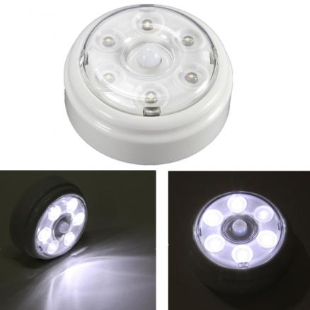 Wireless PIR Infrared Motion Sensor 6 LED Night Light Home Outdoor