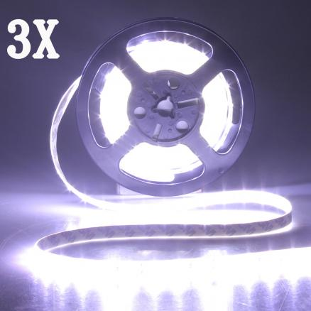 3X 5M 300 SMD 5630 White LED Strip Light DC 12V Waterproof IP65