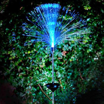 Solar Fibre Optic LED Light Garden Patio Color Changing For Decoration