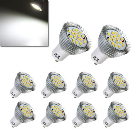 10X GU10 7W 640LM Pure White 16 SMD 5630 LED Light Bulbs Lamps AC85-265V