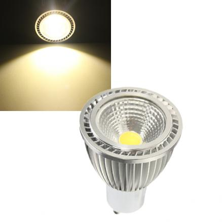 GU10 5W 500-550LM COB LED Spot Lamp Light Bulbs AC 85-265V