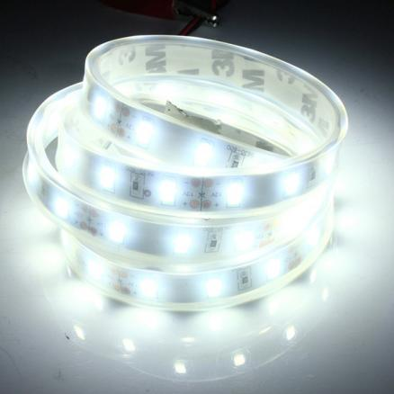 1M 5630 SMD LED Silicone Strip Light Cool White Waterproof 12V