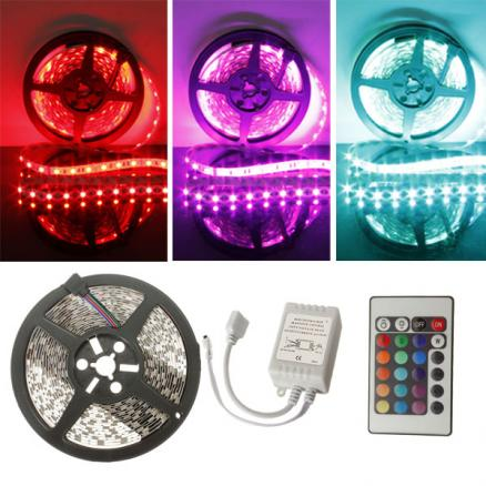 5M RGB 300 LED 5050 SMD Non-Waterproof LED Strip Light 12V DC