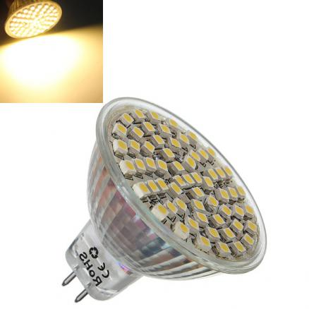 MR16 4W Warm White 360LM SMD 3528 LED Spotlight Bulb 12V DC
