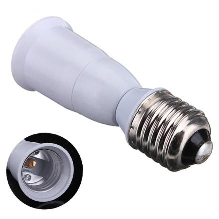 E27 to E27 Extension Socket Base Light Bulb Lamp Adapter Converter