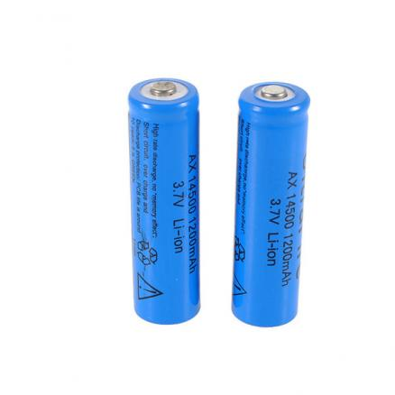 3.7V 1200mAh ICR 14500 Li-ion Lithium Rechargeable Battery