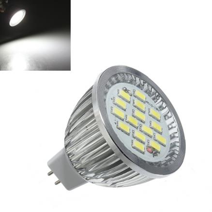 MR16 6.4W 480-530LM Pure White SMD 5630 LED Spot Light Bulb 10V-18V AC