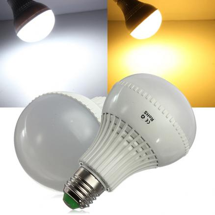 E27 LED Bulb 9W SMD 5730 AC 85-265V Warm White/White Globe Light